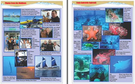 Tallahassee SCUBA Instructor Gabrielle - Published Article and Pics in Currents Journal on Maldives Liveaboard Trip